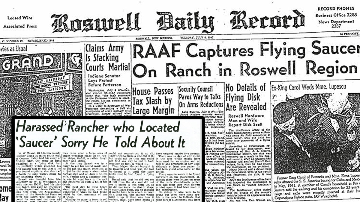 Roswell UFO daily news