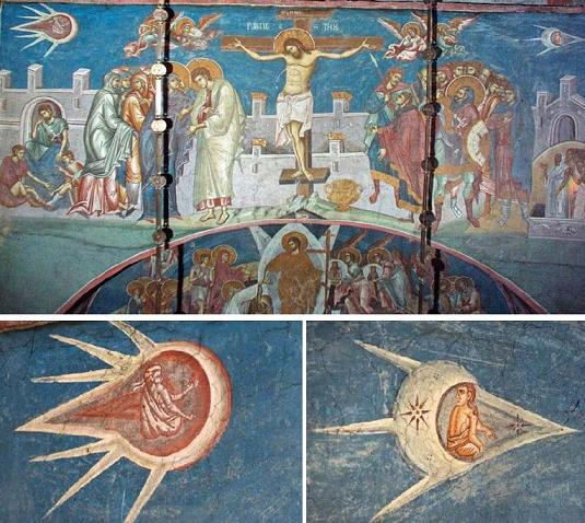 Ancient UFO paintings at the Picture of Christ