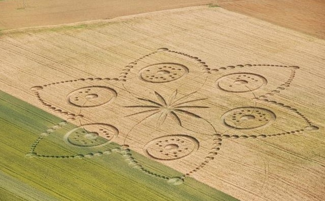 Flower crop circle in Italy
