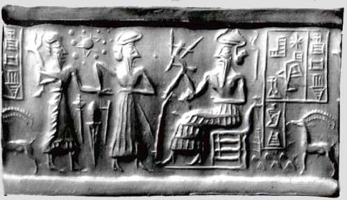 alien Mesopotamian cylinder seal atomic structures