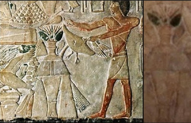 ancient drawings of aliens of Egyptian 400 BC