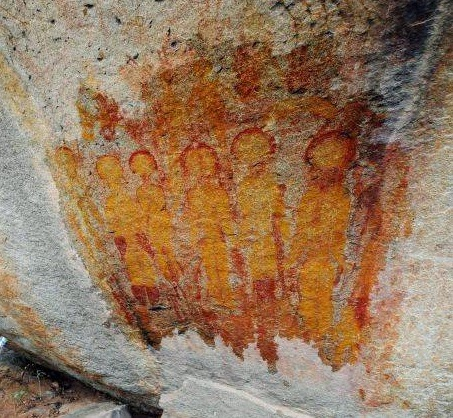 Alien Rock paintings Chhattisgarh of India