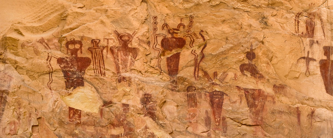 Alien cave drawings of Sego Canyon