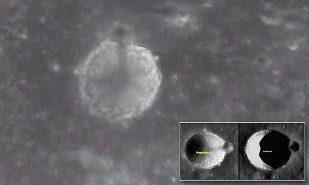 Giant tower on the moon
