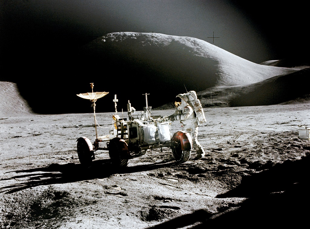Neil Armstrong spot spacecrafts on the moon