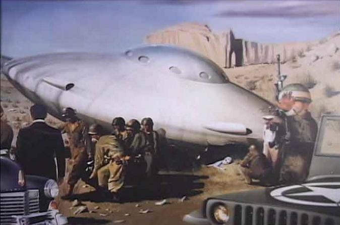 Roswell crash debris B-29 fighter plane