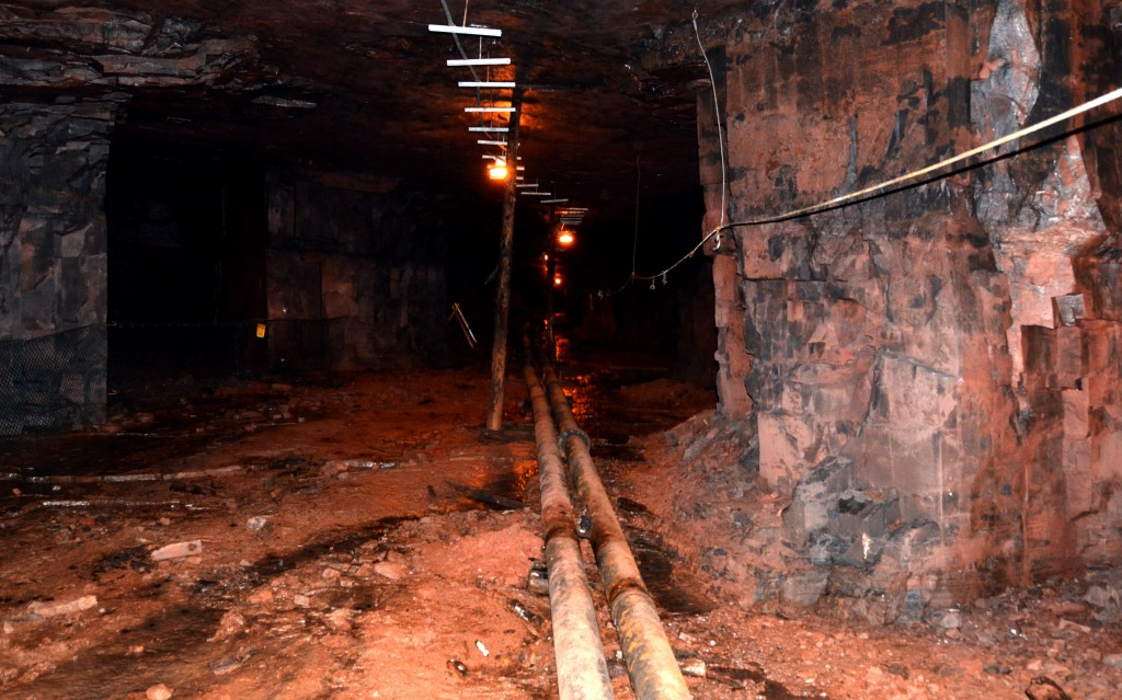 Underground Alien Base of the iron mines in Newfoundland