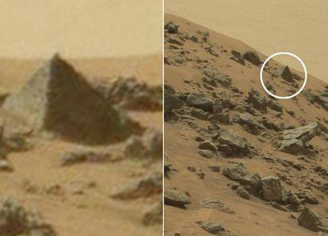 aliens pyramid on Mars