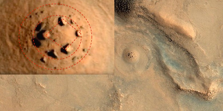 aliens stone structures on Mars
