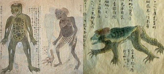 Kappa Japanese reptilian alien